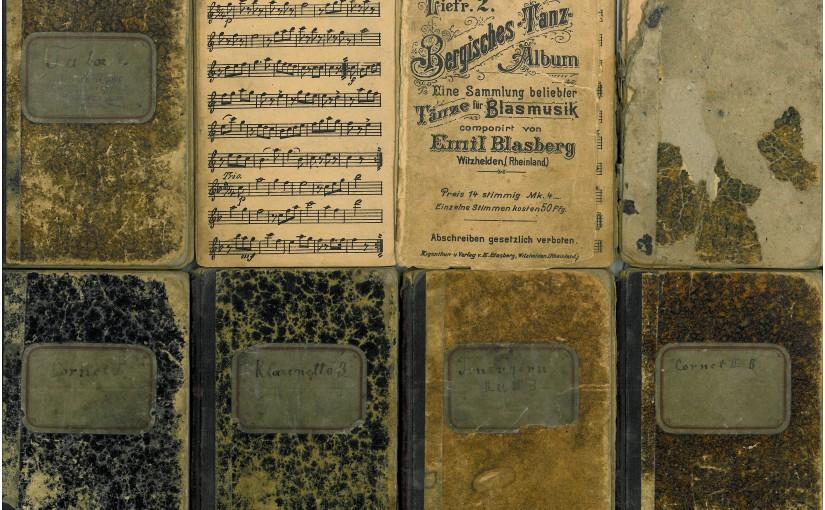 Sieben Stimmhefte für Blasmusik von Emil Blasberg