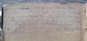 """Handschriftliche Eintragung in der Stimme für """"Cornett 1"""" in Originalgröße"""