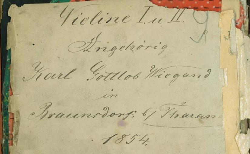 Das Notenbuch des Karl Gottlob Wiegand 1854